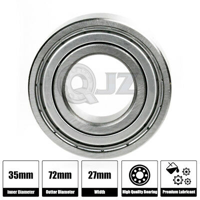 2x 5207-ZZ Double Row Seals Ball Bearing 72Mm 35Mm 27Mm 2Z Seal New Metal