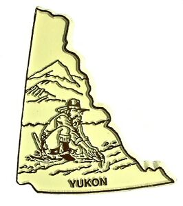 Yukon Territory 4 Color Canadian Outline Fridge Magnet