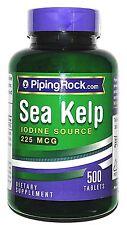 225mcg Sea Kelp Iodine 500 Daily Tablets Pills Thyroid Support Radiation Blocker