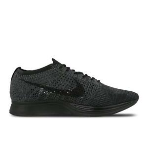 7954d5b8bab3 Image is loading Mens-NIKE-FLYKNIT-RACER-Black-Running-Trainers-526628-