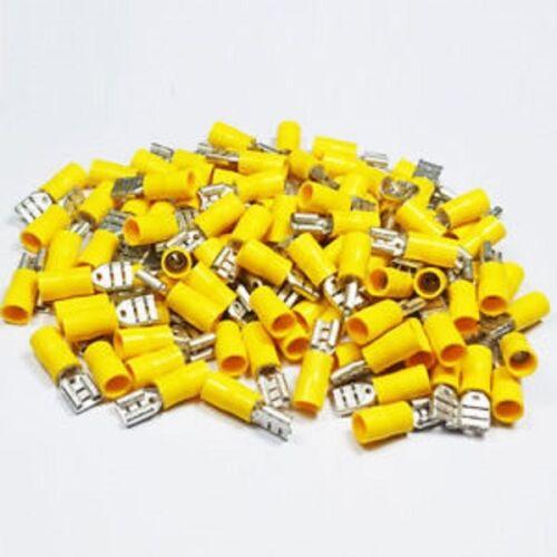 Crimp Terminals Spade Insulated Yellow connectors WT 6.3mm-9.5mm
