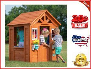 Backyard Discovery Timberlake Cedar Wooden Playhouse   eBay