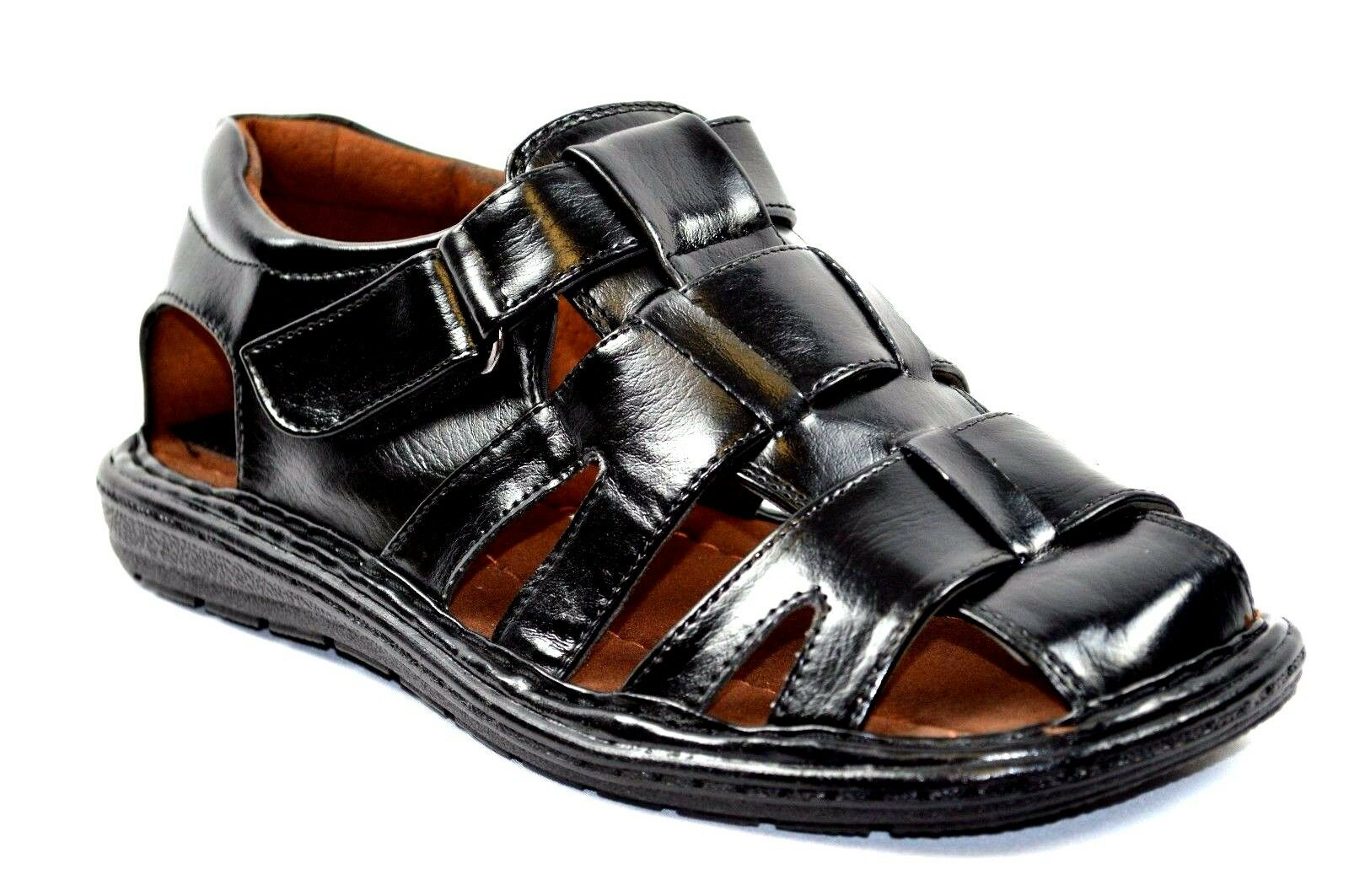 New  Fisherman Casual Casual Fisherman Sports Men Closed Toe Sandals Black or Brown-53 7b4e3c