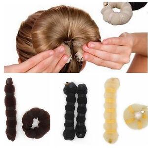 EG-Raupe-Form-Damen-schnell-Dutt-Macher-Halterung-Ball-Haar-Accessoires