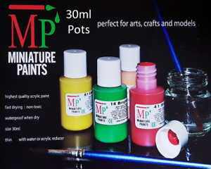 30ml-Acrylic-Model-Airfix-Rail-Game-Paints-77-Various-Colours-2-Select-From
