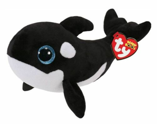 TY BEANIE BABIES BOOS NONA ORCA PLUSH SOFT TOY NEW WITH TAG