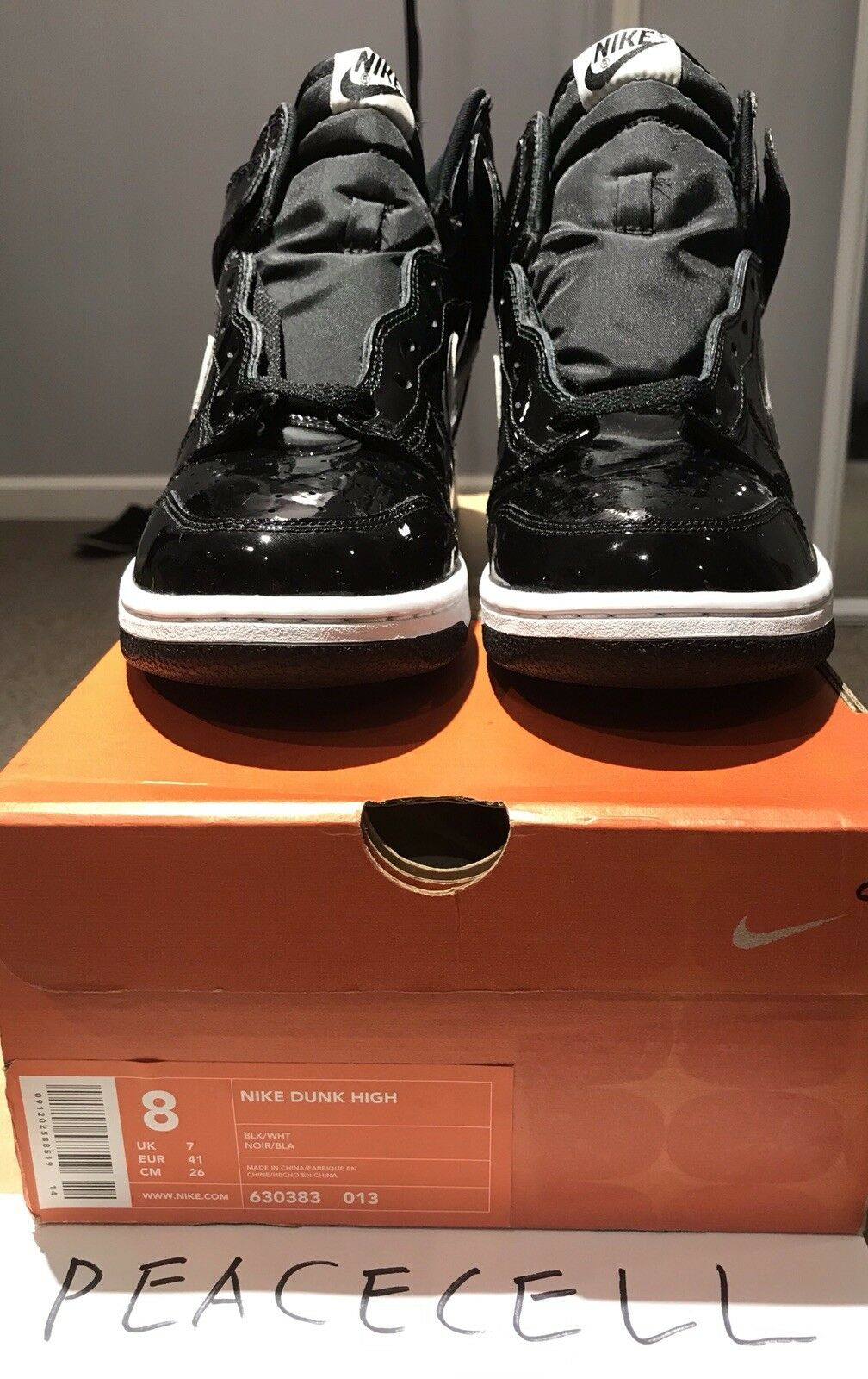 2001 Nike Dunk High Footaction Exclusive All Patent Leather Version SZ 8