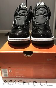 Details zu 2001 Nike Dunk High Footaction Exclusive All Patent Leather Version SZ 8
