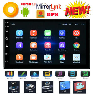 7-039-039-2-Din-Autoradio-GPS-Navi-Android-8-0-16GB-4K-Stereo-Player-Bluetooth-Wifi-FM