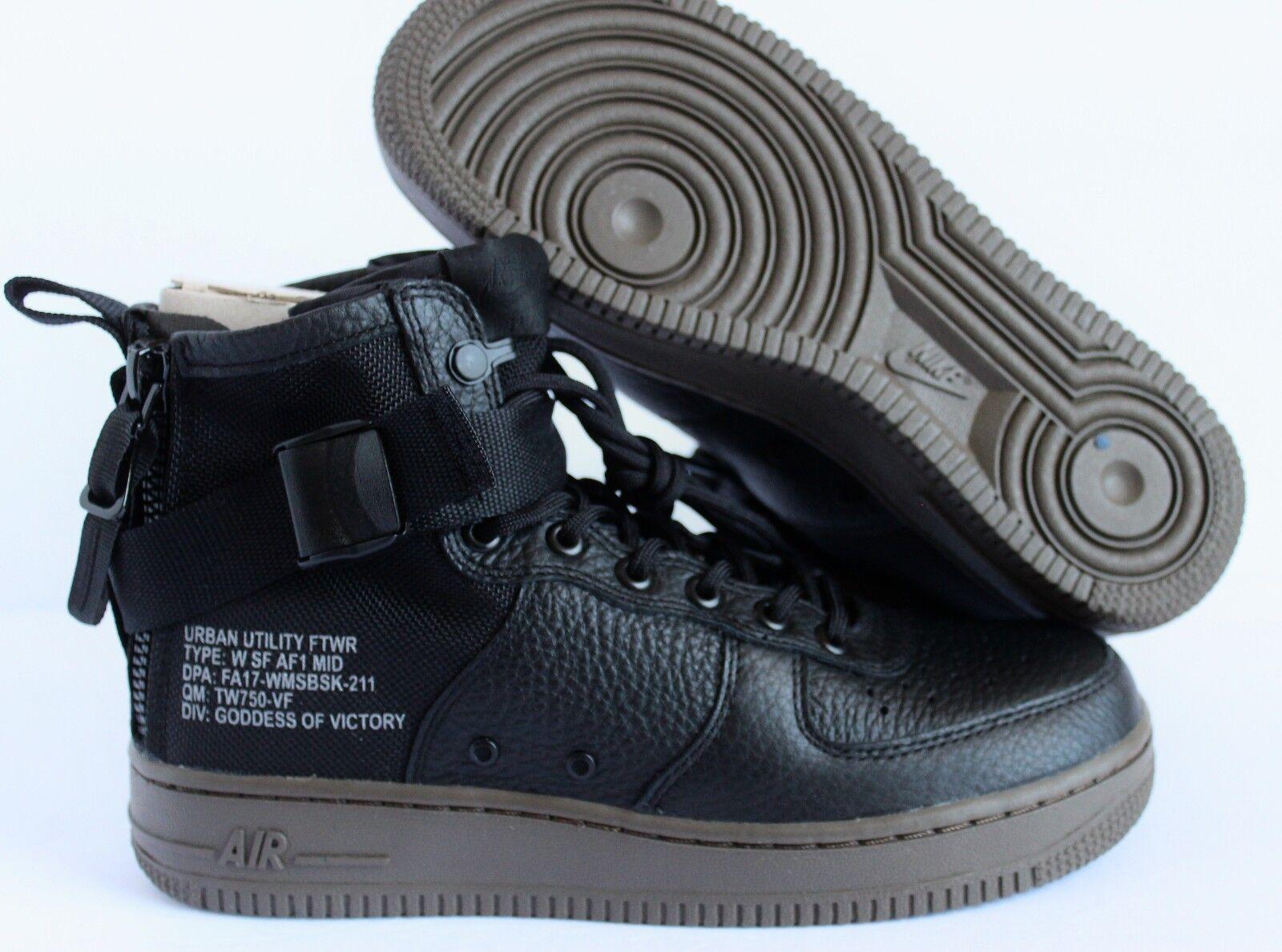 Women's Nike SF Air Force 1 Mid shoes Black Dark Hazel SZ 7.5 [AA3966 003]