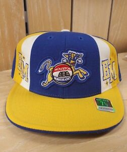 VINTAGE-ABA-REEBOK-HARDWOOD-HOUSTON-MAVERICKS-FITTED-HAT-CAP-YELLOW-BLUE-SZ-7-A