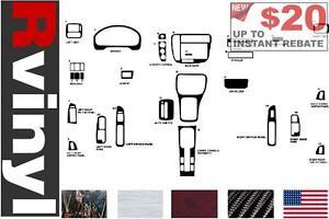 Carbon Fiber 4D Rvinyl Rdash Dash Kit Decal Trim for Honda S2000 2000-2009 Black