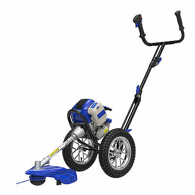 Hyundai Powerful 51cc 2-Stroke Petrol Wheeled Push Garden Grass Trimmer