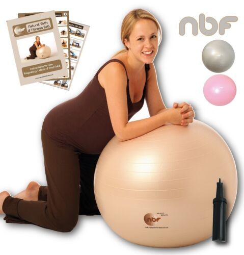 NBF Natural Birth & Fitness Birthing Ball & Pump Anti-Burst  55cm 65cm 75cm NEW