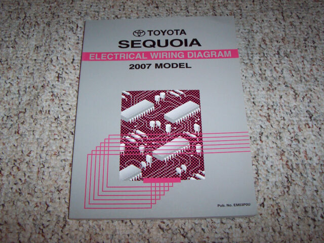 2007 Toyota Sequoia Electrical Wiring Diagram Manual Sr5