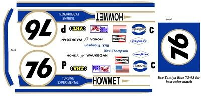 Models & Kits #76 Dick Thompson Howmet 1/24th 1/25th Scale Decals Toys & Hobbies