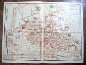 Cartina Topografica Emilia Romagna.Stampa Antica Old Map Mappa Carta Topografica Ferrara Emilia Romagna 1924 Ebay