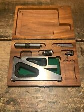 Vintage Lufkin Planer Gage Shaper Machinist Level Tool No901a With Wood Case Usa