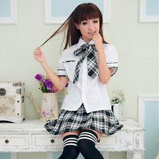 Damen Mädchen Cosplay Kostüm School Schulmädchen schuluniform Uniform Xmas