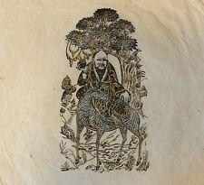 Bouddhisme Hindouisme estampage rehaussé papier de riz XX e Buddhism Hinduism