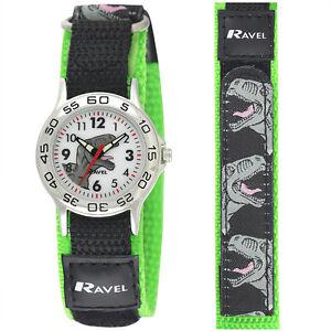 Children-039-s-Dinosaur-Watch-with-Adjustable-Nylon-Strap-Ravel-Watch-R1507-59