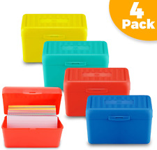 Index Card Holder 3 X 5 Inch Recipe Card Box Plastic Storage Organizer For 350