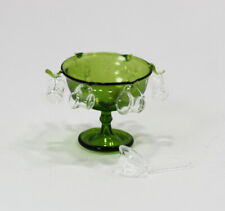 Phil Grenyer Cranberry Glass Crown Bowl 1:12 Hand Blown Dollhouse Miniatures