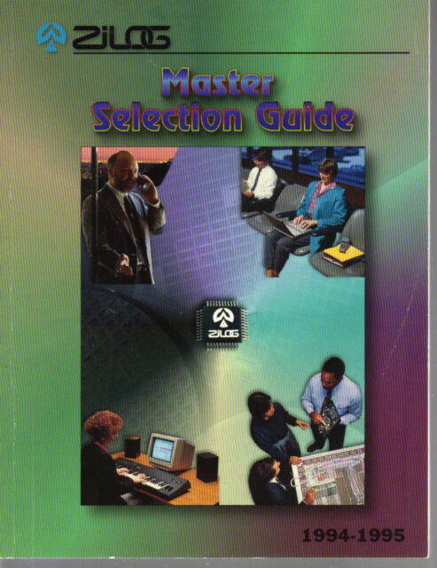 Vintage 1994-1995 ZILOG Master Selection Guide-Semiconductors
