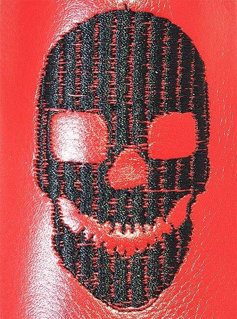 Original Chelsy - Handmade Handmade Handmade Italienische Designer Party Slipper Totenkopf rot 45 cd9cd9