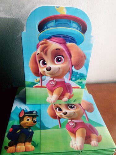 10 Paw Patrol Skye Favor Box Loot Bags Birthday Party Supplies Goody Treat Bags