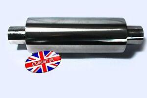 4-034-x-2-034-x-12-034-Universal-Exhaust-Silencer-Stainless-Steel-Back-Box-Muffler