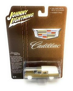 JOHNNY LIGHTNING 1:64 1966 GOLD CADILLAC HEARSE HOBBY EXCLUSIVE MODEL JLSP090