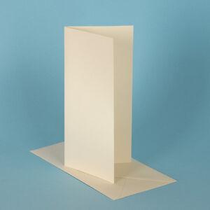 100 DL Card Blanks, Ivory Hammer & Envelopes