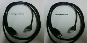 TWO-6-FT-USB-Wired-Controller-Extension-Cables-XBOX-360