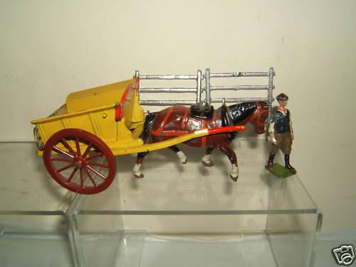 VINTAGE BRITAINS MODEL No.4F       TUMBREL CART & FARM HAND