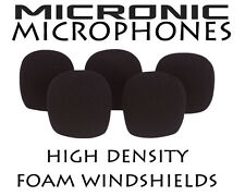 5x MICROPHONE COVERS HIGH DENSITY FOAM WINDSHIELD fit 5mm 6mm & 9mm Diameter