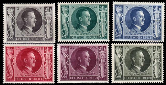Deutsches Reich 844/49 ** 54. Geburtstag von Adolf Hitler, kpl. Postfrisch