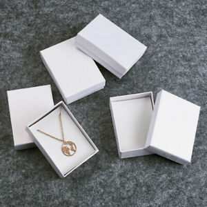 6Pcs Round Cardboard Jewelry Set Boxes Gift Boxes Random Mixed Color 8.5x3.5cm