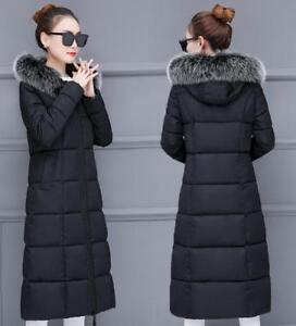 à manteau pour chaud en slim capuche coupe fausse Veste femme H8 longue matelassée d'hiver fourrure qWAUPpwHT