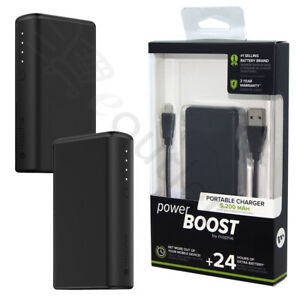 low priced 06561 785a0 Details about Mophie Power Boost 24 Hour Powerbank Portable Charger 5200  mAh - Black NEW