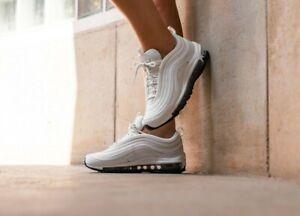 Da-Donna-Nike-Air-Max-97-LEA-misure-UK-3-BIANCO-Bianco-AQ8760-100