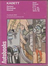 OPEL KADETT C 1.0 1.2 SALOON HATCHBACK COUPE 1973 - 1978 WORKSHOP MANUAL