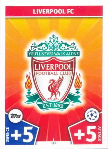 Club Logo Liverpool FC Match Attax Champions League 17//18-181