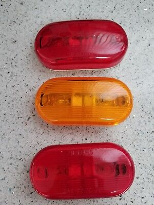 134-15A Turn Signal-Parking-Side Marker Light Lens RV Trailer LENS AMBER 1