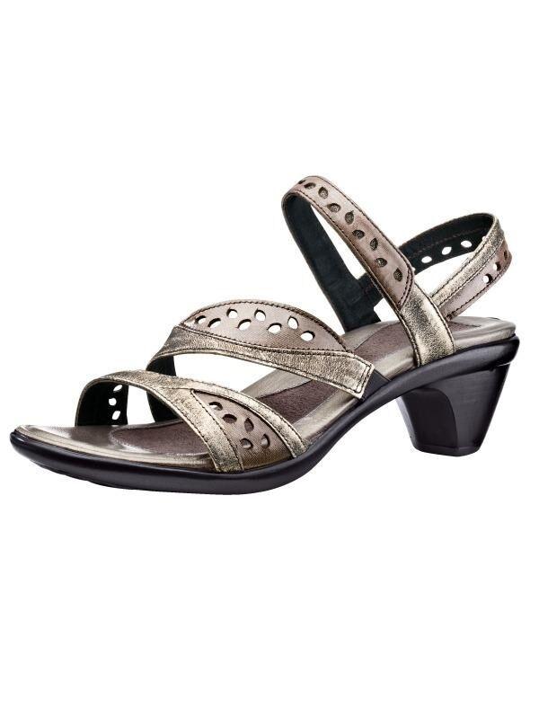 Zapatos señora zapatos sandalias decorado de cuero de noat (7,5)