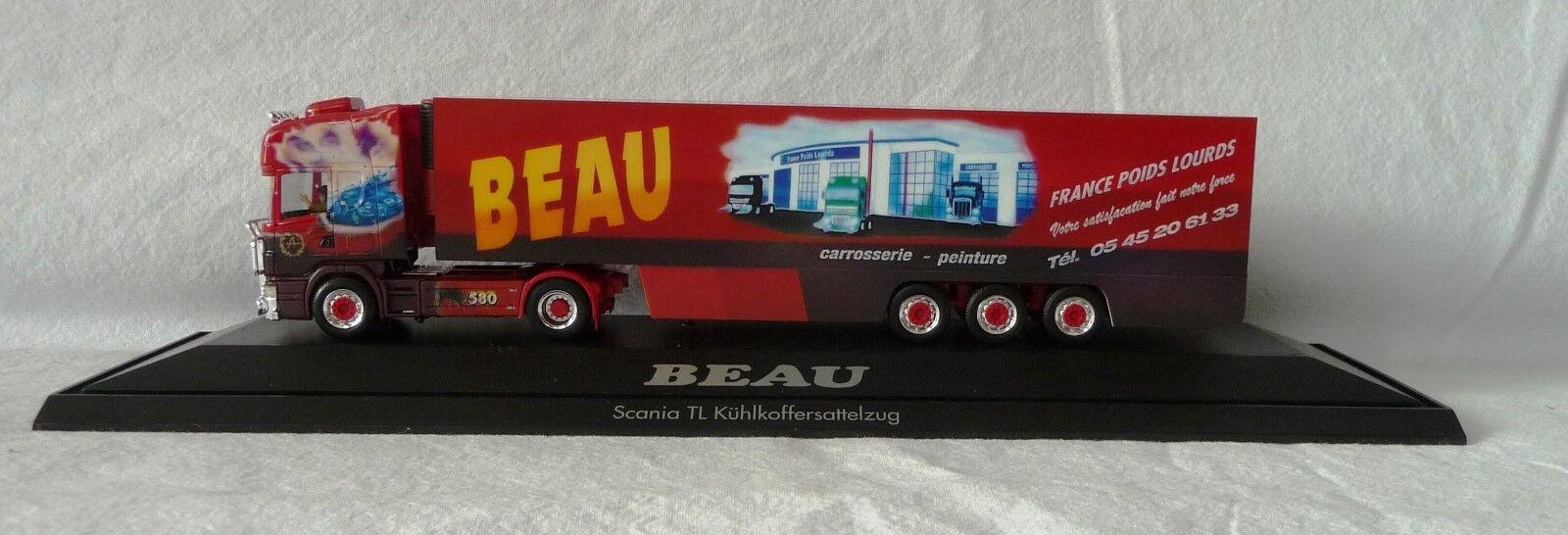 Herpa H0 120838  Scania TL Kühlkoffer-Sattelzug  Beau II  (F), PC  | Kompletter Spezifikationsbereich