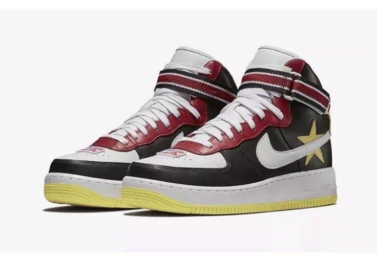 NEW Sz 10.5 Nike Air Force 1 Hi RT Riccardo Tisci All Star Red Yellow AQ3366-600