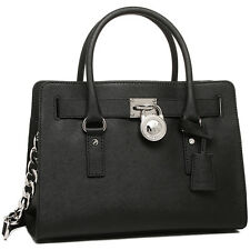 NWT MICHAEL KORS Hamilton LARGE Satchel Tote Bag Purse Handbag BLACK