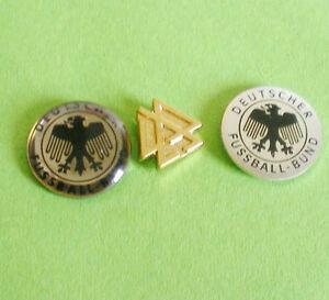 DFB-3-ALTE-FUSSBALLPINS-dick-duenn-und-goldfarben-3-ALTE-PINS-VOM-DFB-16-FU-279