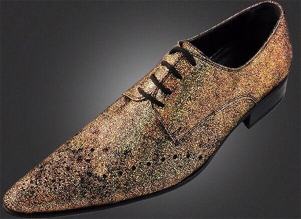100% chelsy a mano italiana Design más grandilocuente oro terciopelo zapato 45